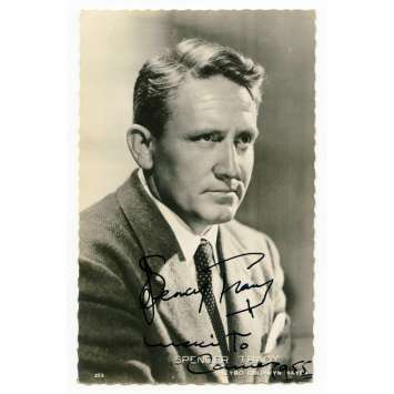 SPENCER TRACY Original Signed Postcard 3,5x5,5 in. - 1955