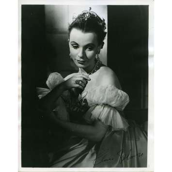 CLAIRE BLOOM Photo signée Américaine Originale 20x25 cm - 1955
