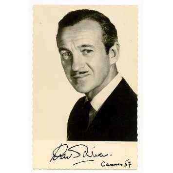 DAVID NIVEN Original Signed Postcard 3,5x5,5 in. - 1957