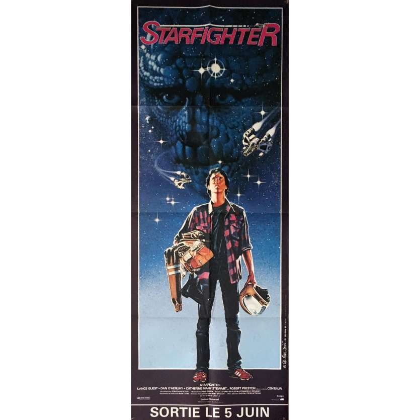 THE LAST STARFIGHTER Movie Poster 23x63 in. French - 1984 - Nick Castle, Lance Guest