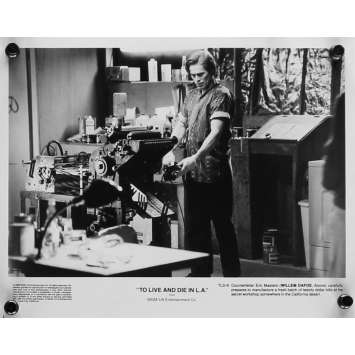 TO LIVE AND DIE IN LA Movie Still 8x10 in. - N04 1984 - William Friedkin, Willem Dafoe