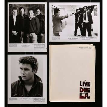 POLICE FEDERALE LOS ANGELES Presskit avec 3 photos 20x25 cm - 1984 - Willem Dafoe, William Friedkin