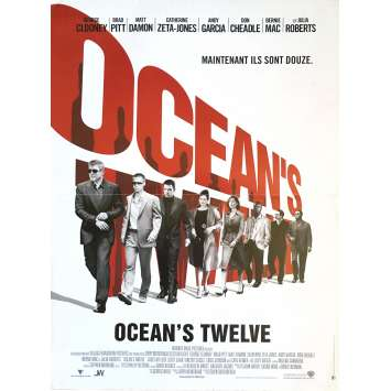 OCEAN'S TWELVE Movie Poster 15x21 in. - 2004 - Steven Soderbergh, George Clooney