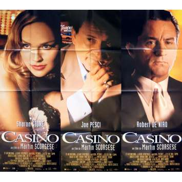 CASINO Movie Poster lot 23x63 in. - 1995 - Martin Scorsese, Robert de Niro