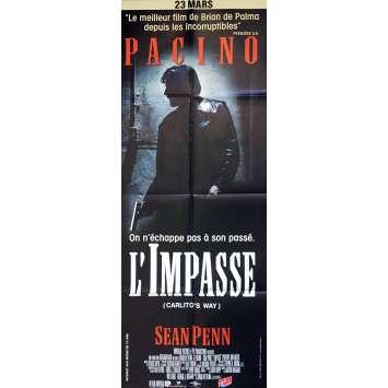 L'IMPASSE Affiche de film 60x160 cm - 1993 - Al Pacino, Brian de Palma
