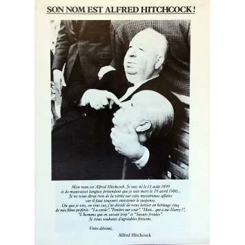 HITCHCOCK LES ANNEES D'OR Synopsis 13x18 cm - 1984 - James Stewart, Alfred Hitchcock