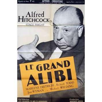 LE GRAND ALIBI Affiche de film 80x120 cm - 1960 - Marlene Dietrich, Alfred Hitchcock