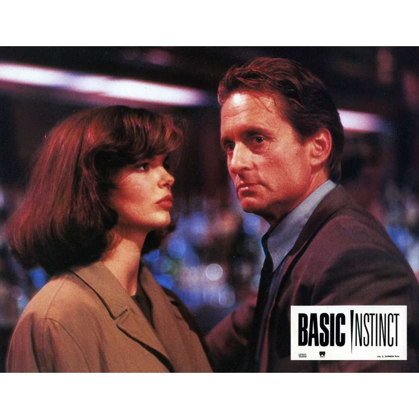 BASIC INSTINCT Lobby Card 9x12 in. - N05 1992 - Paul Verhoeven, Sharon Stone