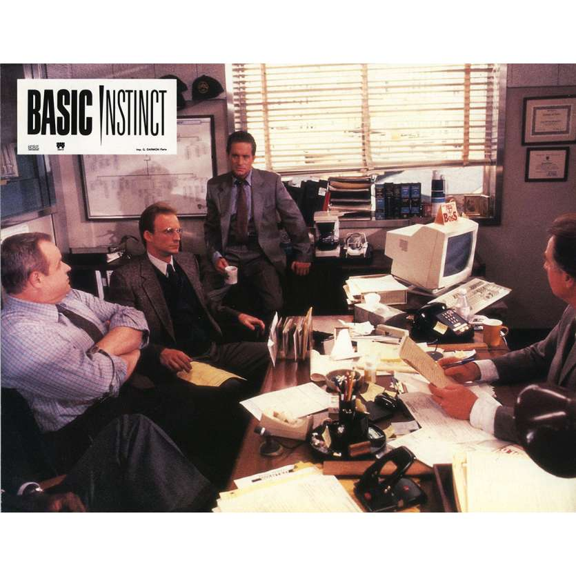 BASIC INSTINCT Lobby Card 9x12 in. - N06 1992 - Paul Verhoeven, Sharon Stone