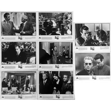 LE PARRAIN 3 Photos de presse 20x25 cm - x8, set A 1990 - Al Pacino, Francis Ford Coppola