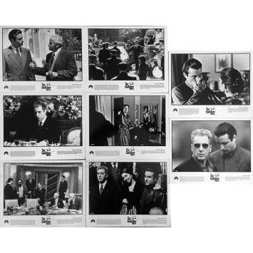 THE GODFATHER III Movie Stills 8x10 in. - x8, set A 1990 - Francis Ford Coppola, Al Pacino