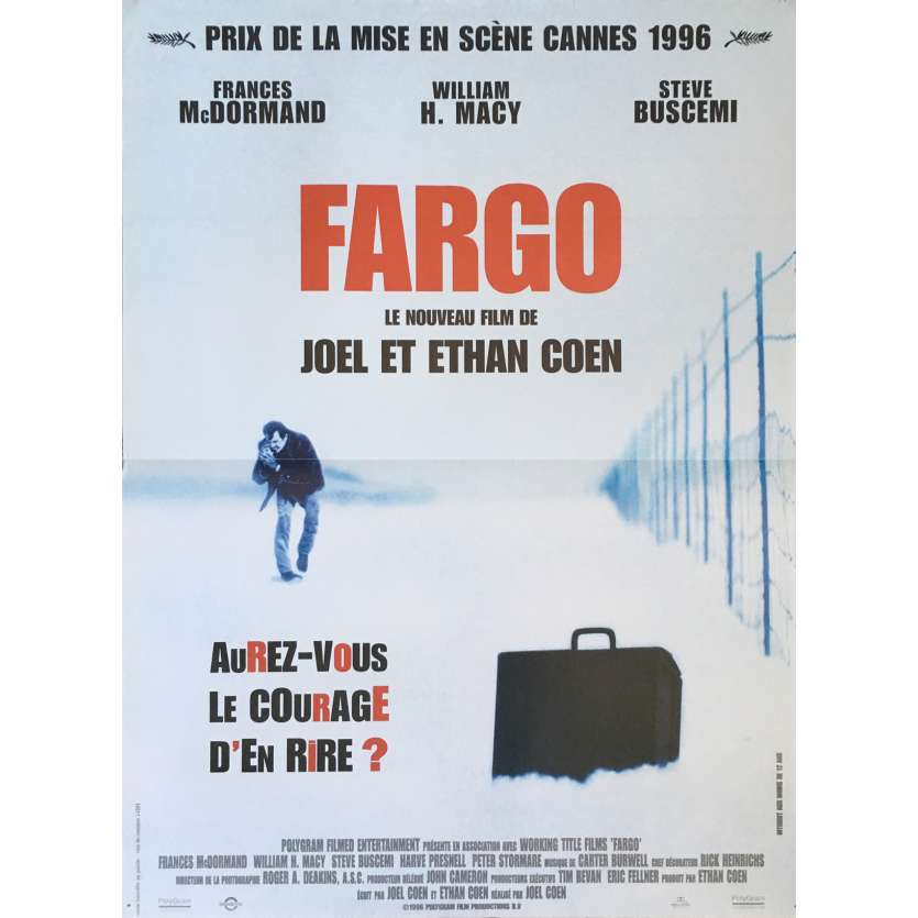 FARGO Movie Poster 15x21 in. French - 1996 - Coen Bros, Frances McDormand