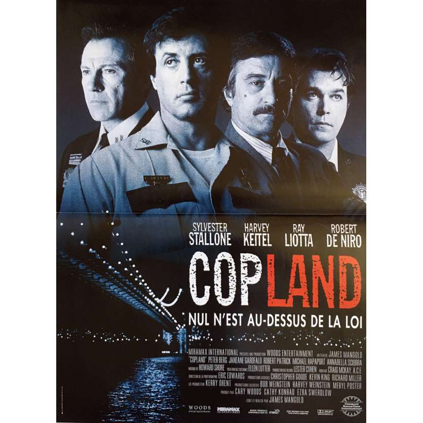 COP LAND French Movie Poster 15x21- 1992 - James Mangold, Sylvester Stallone