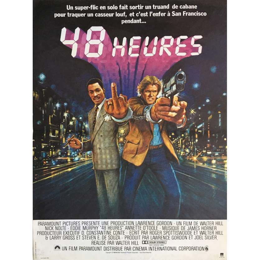 48 HOURS Movie Poster 15x21 in. French - 1982 - Walter Hill, Eddie Murphy