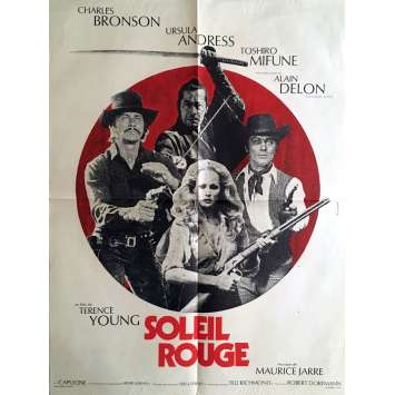 RED SUN Movie Poster 23x32 in. - 1971 - Terence Young, Alain Delon
