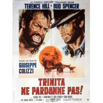 GOD FORGIVES, I DON'T Movie Poster 23x32 in. - 1972 - Giuseppe Colizzi, Terence Hill, Bud Spencer