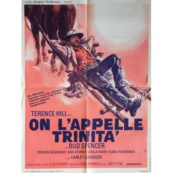 ON L'APPELLE TRINITA Affiche de film 60x80 cm - R1970 - Terence Hill, Bud Spencer, Enzo Barboni