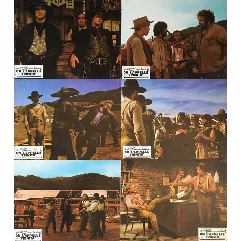 ON CONTINUE A L'APPELER TRINITA Photos de film 21x30 cm - x6 1971 - Terence Hill, Bud Spencer, Enzo Barboni
