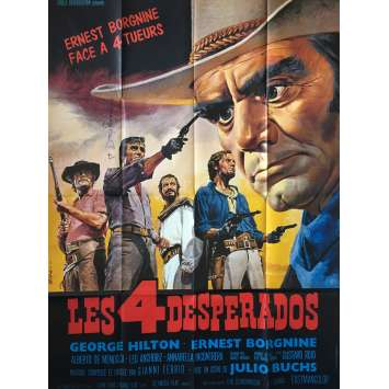 LOS DESESPERADOS Movie Poster 47x63 in. - 1969 - Julio Buchs, Ernest Borgnine