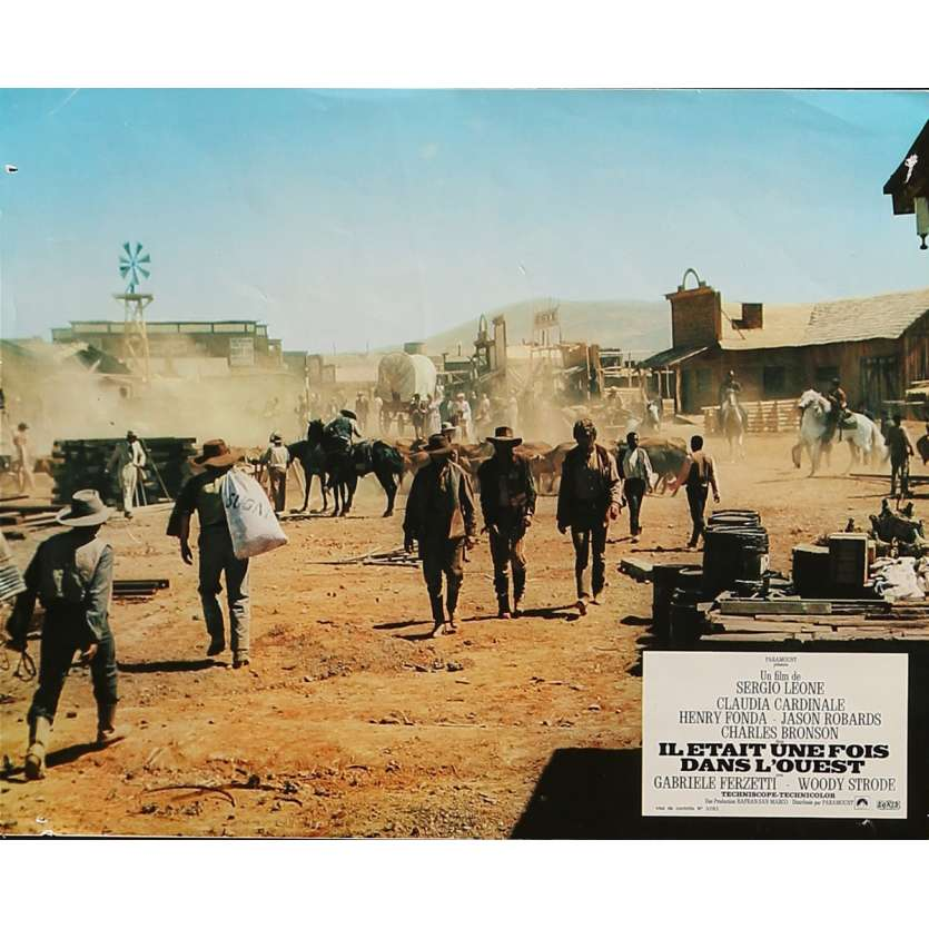 ONCE UPON A TIME IN THE WEST Lobby Card 9x12 in. - N01 1968 - Sergio Leone, Henry Fonda
