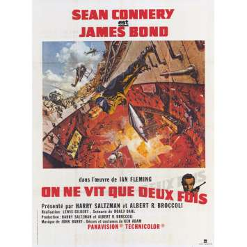 ON NE VIT QUE DEUX FOIS Affiche de film 120x160 - R1970 - Sean Connery, James Bond