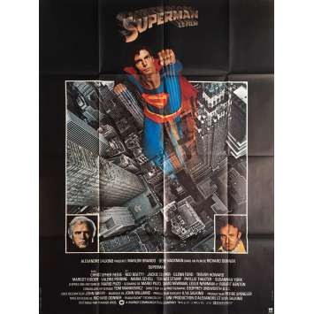 SUPERMAN Affiche de film 120x160 - 1978 - Christopher Reeves, Richard Donner C6