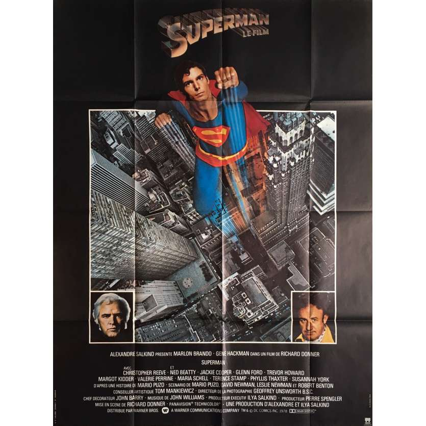 SUPERMAN French Movie Poster 47x63 - 1978 - Richard Donner, Christopher Reeves