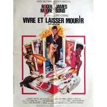 LIVE AND LET DIE French Movie Poster 23x32 - 1973 - James Bond, Roger Moore