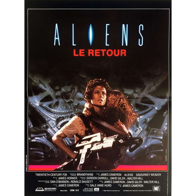 ALIENS French Movie Poster 15x21 - 1986 - James Cameron, Sigourney Weaver