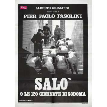 SALO OU LES 120 JOURS DE SODOME Affiche de film 140x200 cm - 1975 - Paolo Bonacelli, Pier Paolo Pasolini