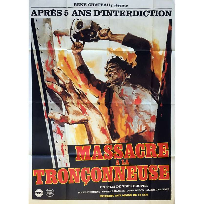 MASSACRE A LA TRONÇONNEUSE Affiche de film 120x160 cm - 1974 - Marilyn Burns, Tobe Hooper