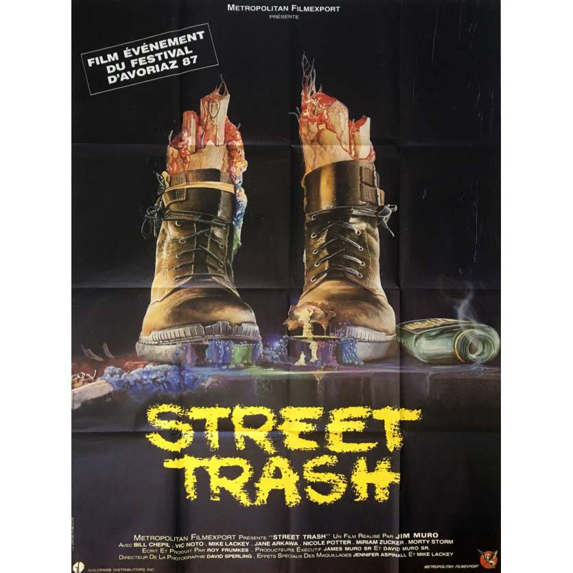 STREET TRASH Affiche de film 120x160 cm - 1987 - Mike Lackey, Jim Muro