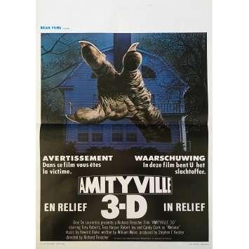 AMITYVILLE 3-D Movie Poster 14x21 in. - 1983 - Richard Fleischer, Tony Roberts