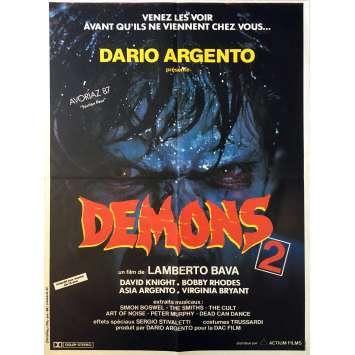 DEMONS 2 Movie Poster 15x21 in. - 1986 - Lamberto Bava, Asia Argento