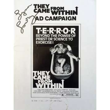 THEY CAME FROM WITHIN Pressbook 9x12 in. - 1975 - David Cronenberg, Paul Hampton