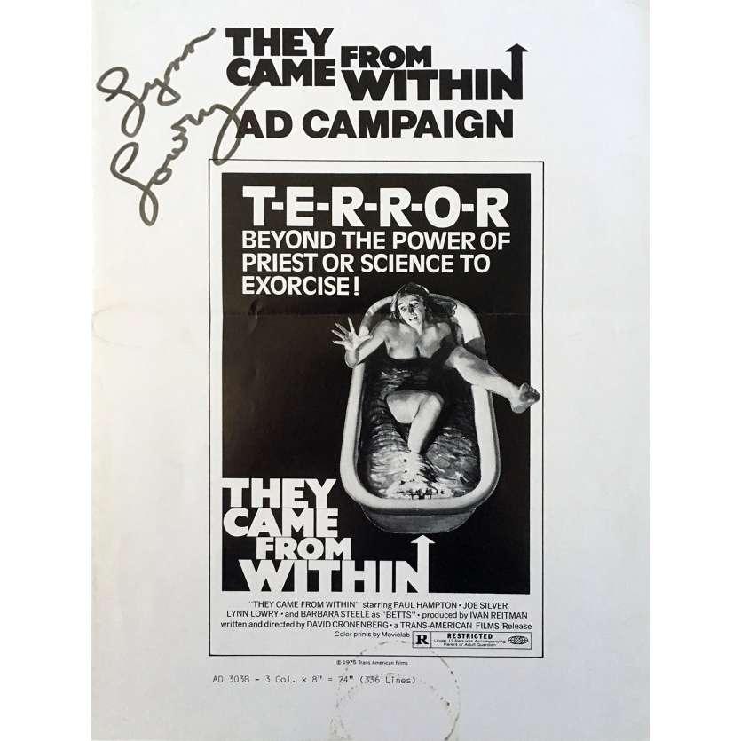 FRISSONS Dossier de presse 21x30 cm - 1975 - Paul Hampton, David Cronenberg