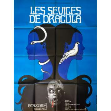 LES SEVICES DE DRACULA Affiche de film 120x160 cm - 1971 - Peter Cushing, John Hough