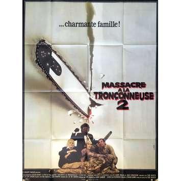 MASSACRE A LA TRONÇONNEUSE 2 Affiche de film 120x160 cm - 1986 - Dennis Hopper, Tobe Hooper