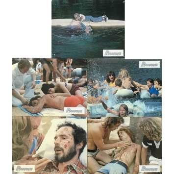 PIRANHAS Photos de film 21x30 cm - x5 1978 - Barbara Steele, Joe Dante