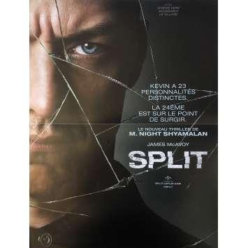 SPLIT Affiche de film 40x60 cm - 2016 - James McAvoy, M. Night Shyamalan