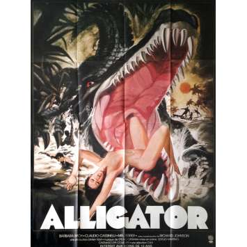 THE GREAT ALLIGATOR Movie Poster 47x63 in. - 1979 - Sergio Martino, Barbara Bach