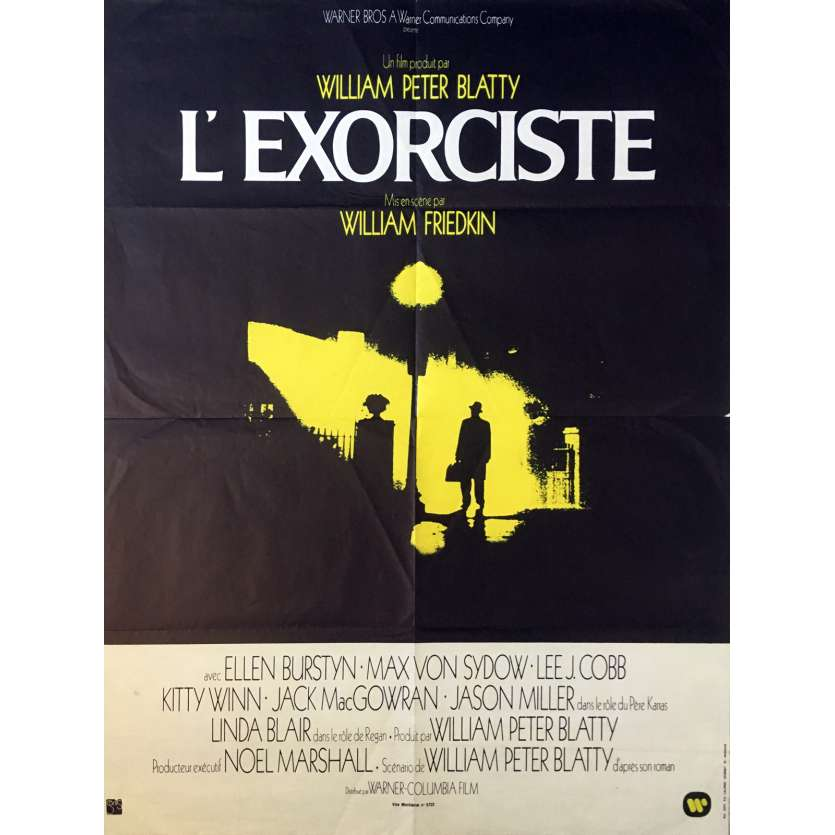 L'EXORCISTE Affiche de film 60x80 cm - 1974 - Max Von Sidow, William Friedkin