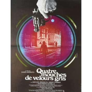 QUATRE MOUCHES DE VELOURS GRIS Affiche de film 40x60 cm - 1971 - Dario Argento