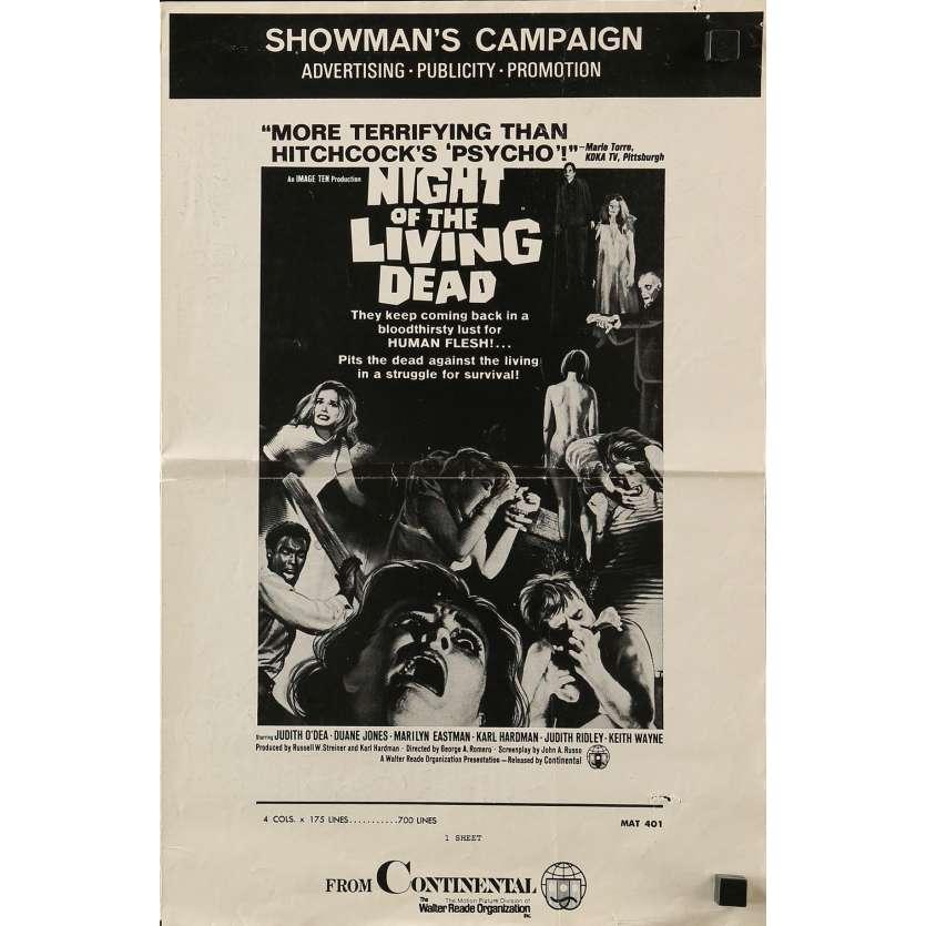 Mauvais-genres.com LA NUIT DES MORTS VIVANTS Romero Dossier de presse USA 1968 Dossiers de presse