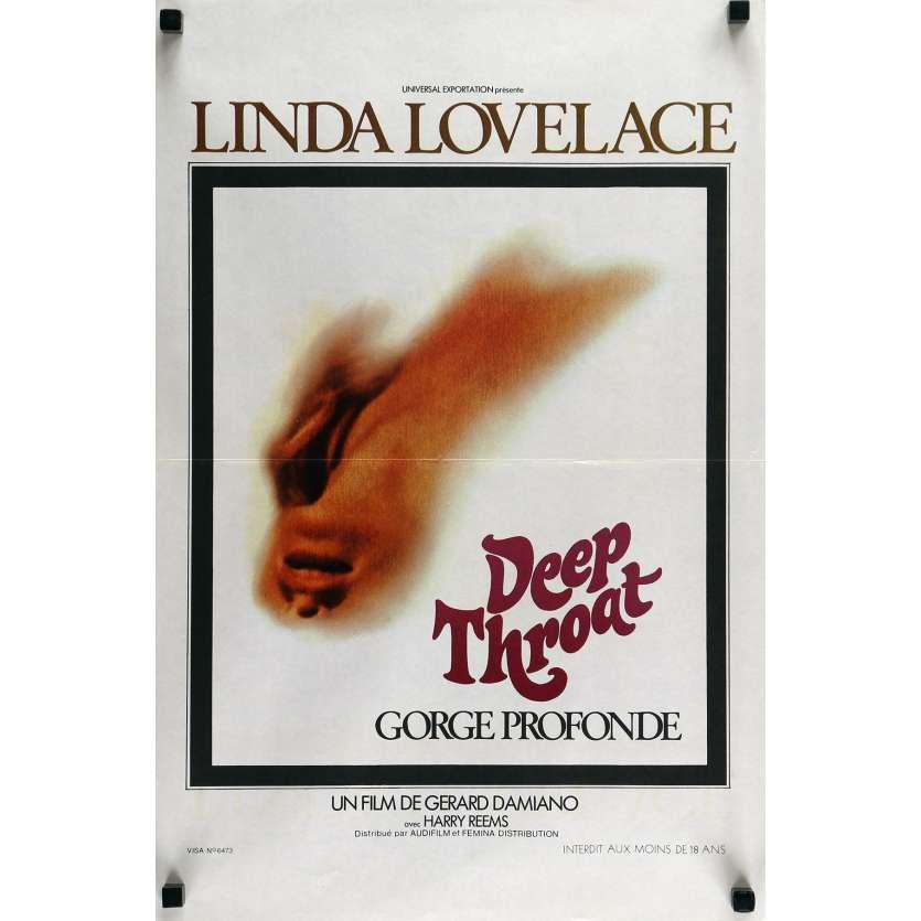 DEEP TROAT Movie Poster 15x21 in. - 1972 - Gerard Damiano, Linda Lovelace