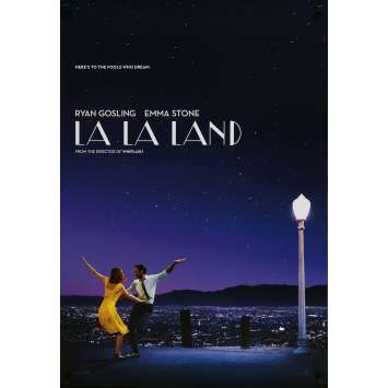 LA LA LAND Original Rolled Teaser Movie Poster - 2016 - Ryan Gosling