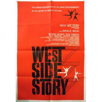 WEST SIDE STORY Affiche Originale US - 69x104 cm - 1961 - 1ère sortie !