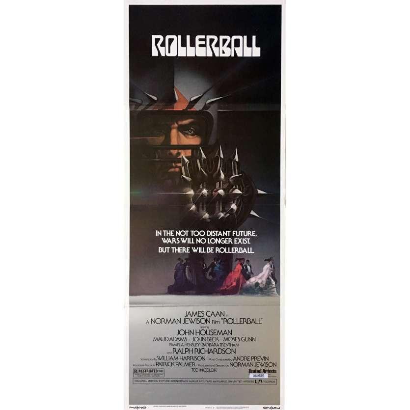 ROLLERBALL Affiche de film 35x91 cm - 1975 - James Caan, Norman Jewinson