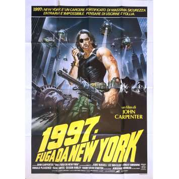 NEW-YORK 1997 Affiche de film 100x140 cm - 1981 - Kurt Russel, John Carpenter