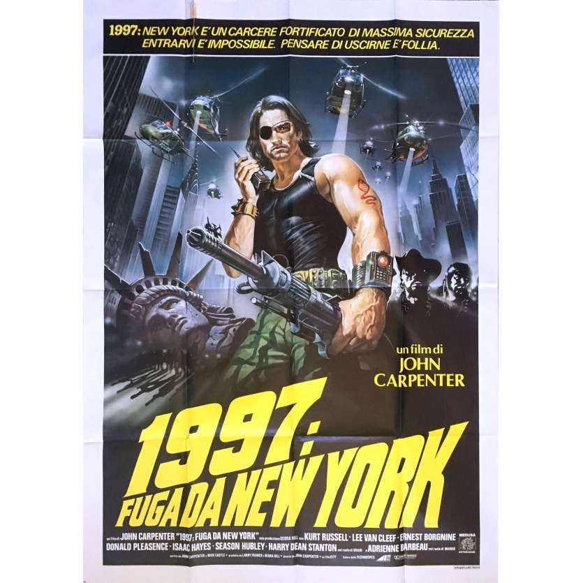 Escape From New York Poster.Escape From New York Movie Poster 39x55 In